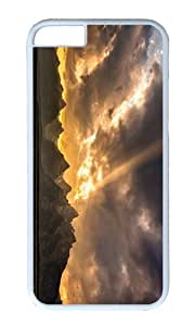 MOKSHOP Adorable grand tetons sunset Hard Case Protective Shell Cell Phone Cover For Apple Iphone 6 Plus (5.5 Inch) - PC White