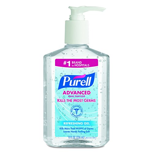 PURELL 965212CT Advanced Instant Hand Sanitizer, 8oz Pump Bottle (Case of 12) Instant Hand Sanitizer Bottle
