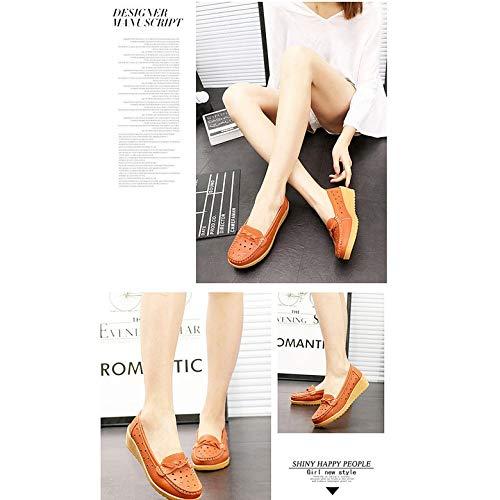 Calzado Antideslizante Flecos Con Madre Mujer Para La Zapatos Ultraligeros Suela Kurphy Planos Sin Cordones Gruesa Transpirable O10Uq4