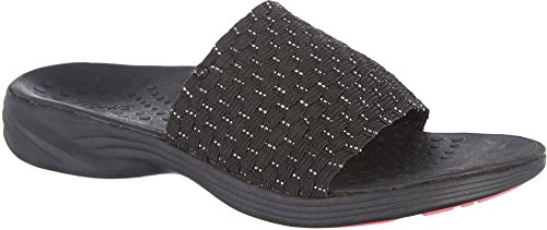 Vionic Serene Kitts - Womens Active Slide Sandal Black - 6