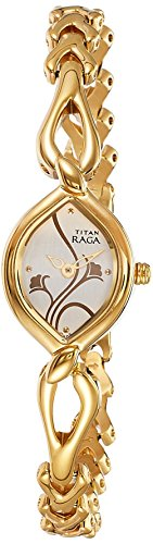 Titan Women's 2455YM01 Raga Jewelry Inspired Gold-Tone Watch ()