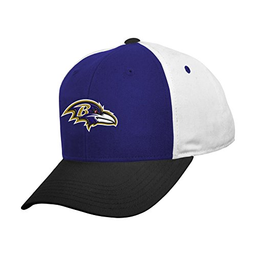 - NFL Baltimore Ravens Boys 8-20 Color Block Adjustable Cap, Youth One Size, Purple