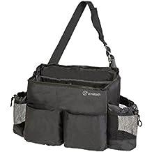 Zone Tech Multi-Pocket Organizer - Classic Black Durable Rugged Pack Cloth Premium Quality compact Car Seat Driver Headrest Organizer