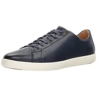 Cole Haan Men's Grand Crosscourt II Sneaker, Navy Leather BRNSH, US 8W