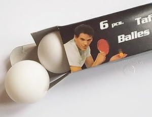 6 Tischtennisbälle / Farbe: weiß