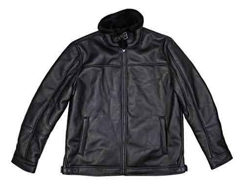 INC Mens Medium Pleather Fleece Lined Bomber Jacket ()