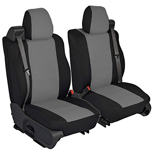 CarsCover Custom Fit 2004-2008 Ford F150 Pickup Truck Neoprene Car Front Seat Covers Gray & Black Sides Driver & Passenger...