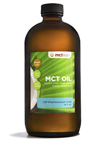 MCT Lean MCT Oil, 16 Oz. - 100% USP Verified (Pharmaceutical Grade), Certified Kosher by Mct Lean