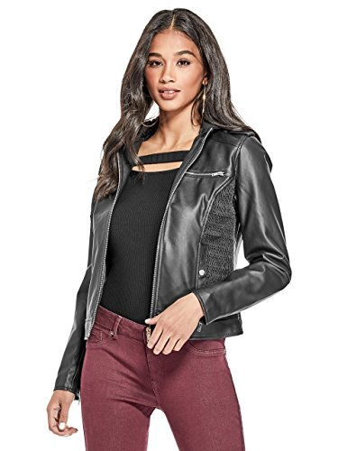 G by GUESS Women's Donna Hooded Moto Jacket