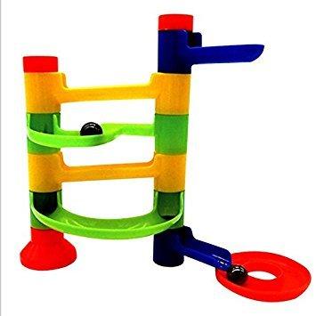 multi colored Maze Track orbit Building Block Tower Kids DIY Construction Toy