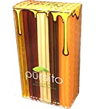 Favorite Flavors Honey Sticks Holiday Gift Box Variety Pack 100 Count (20 ea. Flavor Lemon, Peach, Pina Colada, Raspberry & Wildflower) Pursito Brand Honeystix