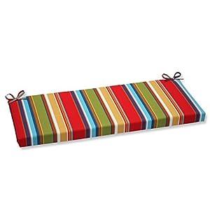 Pillow Perfect Outdoor Westport Garden Bench Cushion, Multicolored
