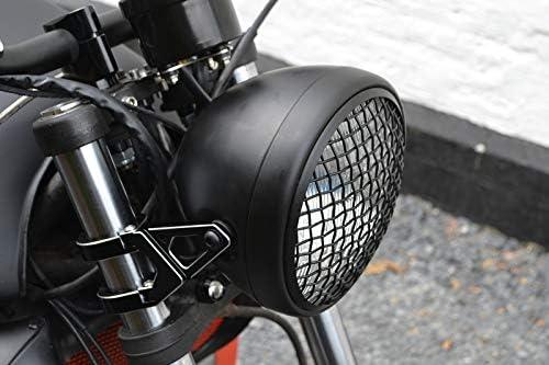 Schwarz f/ür Scrambler Projekt Ma/ßgefertigt Motorrad Scheinwerfer Grill Abdeckung 5.75 Inch