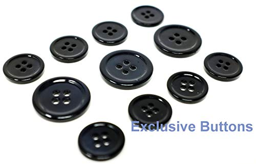 Decorative Craft - Dark Navy Mother of Pearl Buttons Set (MOP) for Suit, Blazer, or Sportcoat - Great Item for Wedding, Album Art,Scrapbooking