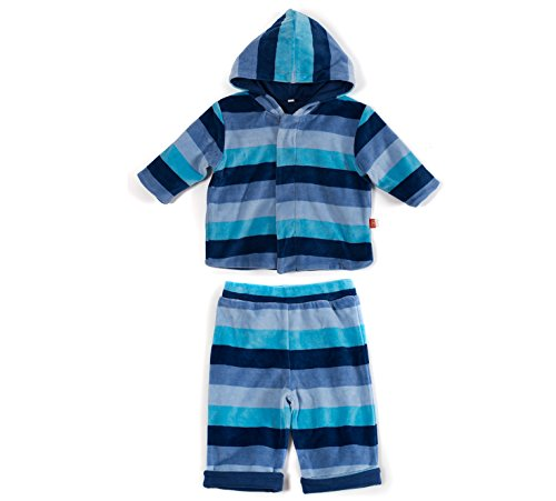 Magnetic Me Striped Velour Baby Hoodie and Pant Set