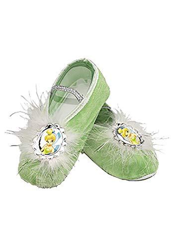 Child Tinker Bell Ballet Slippers, Green, Standard -