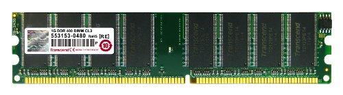 Transcend JM388D643A-5L 1GB JetRam DDR400 DIMM (3200 Ddr400 Pc Desktop Memory)