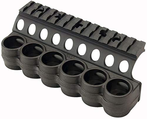 Mesa Tactical- Benelli - Polymer Shotshell Carrier - With Integrated Picatinny Optic Mount (Ben M4 6-Shell 12ga 5.5