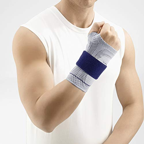 Bauerfeind - ManuTrain - Wrist Support - Relieves Strain and Stabilized During Movement - Right Wrist - Size 4 - Color Titanium
