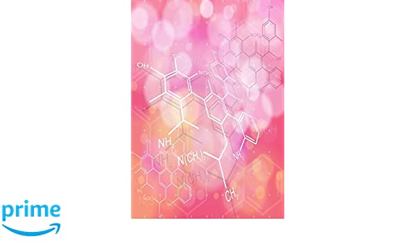Notebook - Chemical Structures Theme Nerdy Notebooks: Amazon.es ...