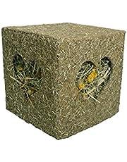 Rosewood Jouet Naturals Cube à Fourrage J'Adore Le Foin pour Friandises pour Lapin/Cochon d'Inde/Chinchilla/Octodon Taille Grand 20cm