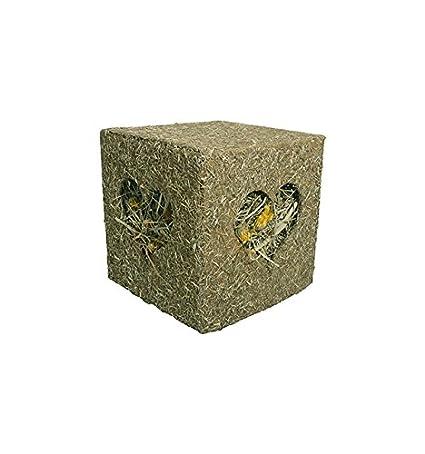Rosewood Jouet Naturals Cube à Fourrage J'Adore Le Foin pour Friandises pour Petits Animaux Taille Moyen 12, 5cm 19517
