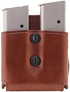 product image for Galco DMP Double Mag Paddle for 9mm.40.357 Sig Staggered Metal and Polymer Magazines (Tan, Ambi)