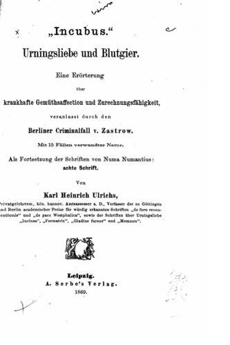 Forschungen über das Räthsel der mannmännlichen Liebe (German Edition)