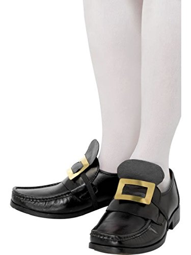 OvedcRay Colonial Pilgrim Shoe Buckles Black Gold Colonial Costume Shoe Buckles]()
