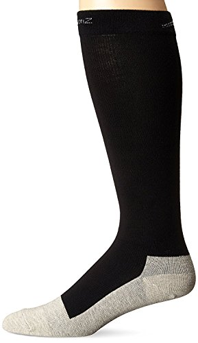 CompressionZ Below Knee High Compression Socks (1 Pair), 20-30mmHg, Medium - Black