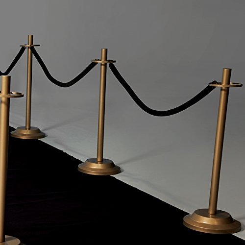 Velvet Rope Railing 30'' Long - Black, Includes Rope Only
