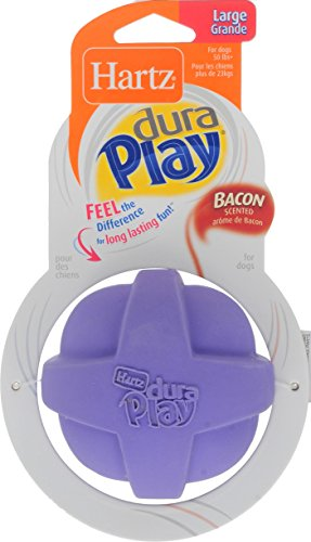 Hartz Dura Play Ball, Large, For Dogs, Available in 2 Colors (Orange and Purple)