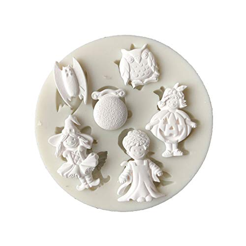 Slendima Silicone Halloween Cosplay Boy Girl Design Fondant Cake Mold DIY Decorating Baking Tool ()