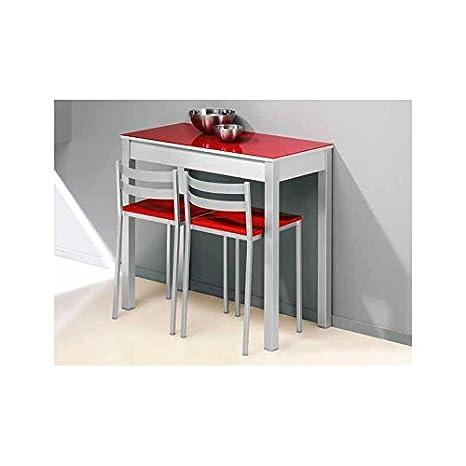 Amuebla 915. Mesa DE Cocina Fija DE 90 X 50 CM.: Amazon.es ...