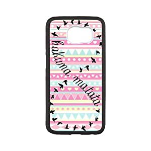 Samsung Galaxy S6 Phone Cases Animation Hakuna Matata Back Design Phone Case BBHE2073065
