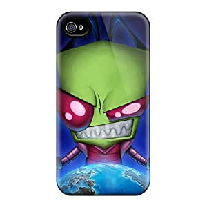 KaraPerron Iphone 4/4s Great Cell-phone Hard Cover Provide Private Custom Lifelike Zim Invader Zim 16153 Cartoonss Pictures [Igz1997csra]