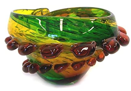 Amazon Murano Art Glass Vase Tray Bowl Sea Shell A76 Home
