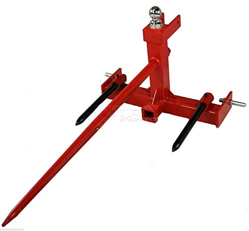 - Tractor 3 point hitch hay spear attachment and Gooseneck Trailer Receiver