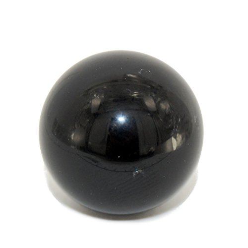 Steampunkers USA Crystal Grotto Collection - Crystal Ball 20mm, Obsidian Black, Natural Gemstone Round Sphere Desk Ornament
