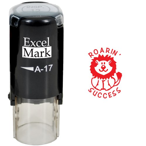 Round Teacher Stamp - ROARIN' SUCCESS - RED INK