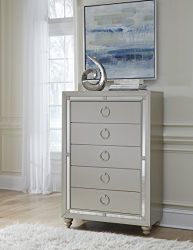 Global Furniture USA 1621 Riley Chest, Silver (Global Glass Furniture Usa)