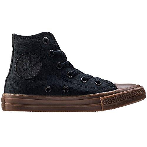Chuck Taylor Trainers Gum Hi All Converse Star Junior Black Textile II fB5cqd7Zw