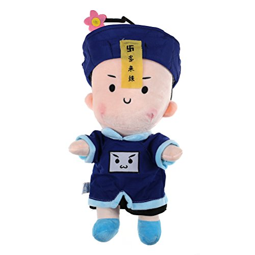 IYSHOUGONG 1 Pcs Chinese Style Zombie Plush Doll Cute Halloween Creative Gift for Kids Friends