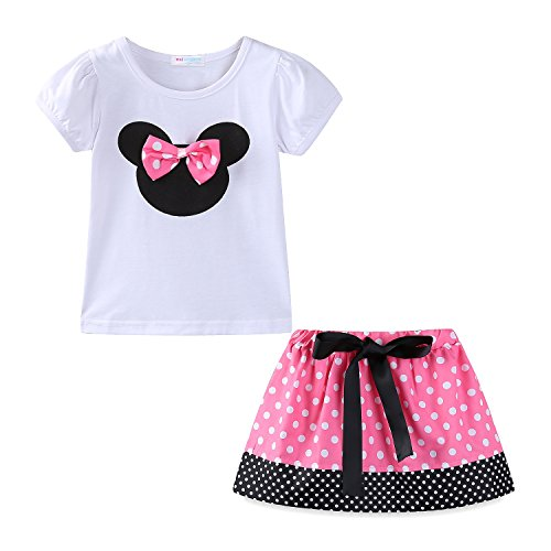 Mud Kingdom Toddler Girls Holiday Outfits Cute Clothes Skirt Sets 24M Pink