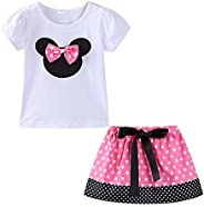 Mud Kingdom Little Girls Clothes Sets Cute Outfits Polka Dot