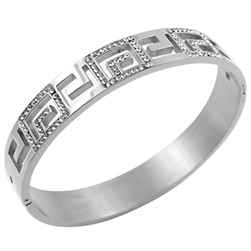 Fashion Designer Jewelry Bangle Stainless Steel Wide Cuff Austrian Crystal Bracelets Women Gold Bracelet Bangles Silver Austrian Crystal Bangle Cuff Watch