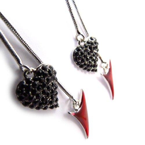 Les Trésors De Lily [J6769] - Boucles Créateur 'Les Diablotines' rouge noir