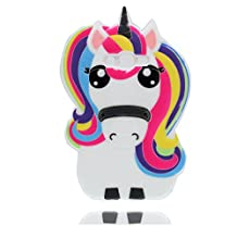 Samsung Galaxy Grand Prime G530 étui, Samsung Galaxy Grand Prime G530 Coque,3D Fantasy Unicorn Pony Horse Soft Silicone [Shock Proof] case cover pour Samsung Galaxy Grand Prime G530 -Rainbow