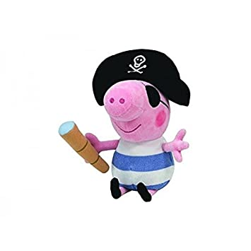 Jemini - Peluche Peppa Pig - George Le Pirate 15cm - 0008421461523