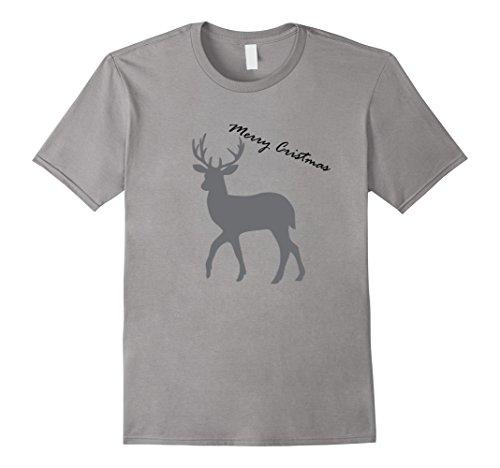 Men's Deer T-Shirt Dream Merry Cristmas Medium Slate (Cristmas Merry)